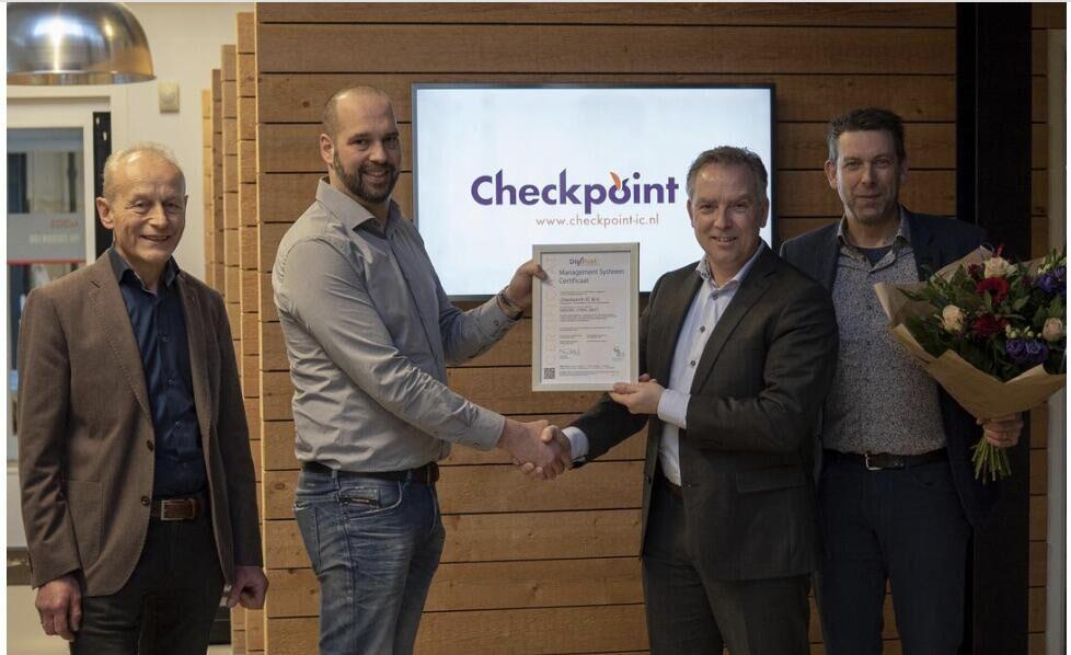 Checkpoint-IC ontvangt het ISO27001 certificaat